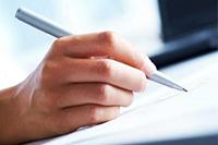 Ручка, документ, рука