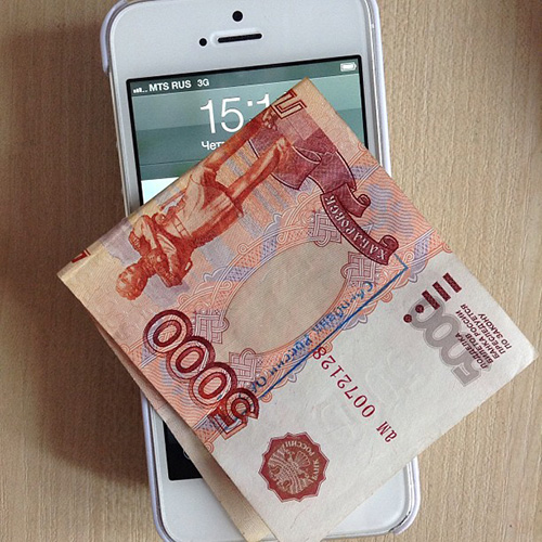 Телефон, деньги