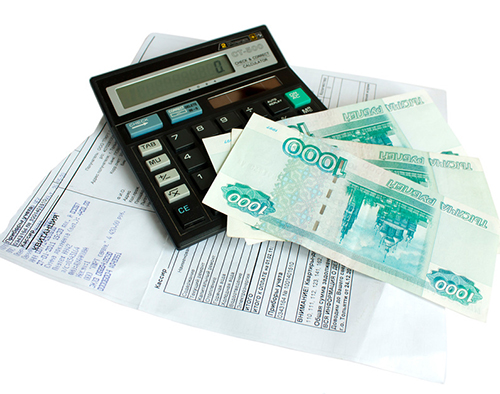 Квитанция, калькулятор, деньги