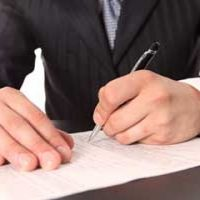 Документ, ручка, мужчина