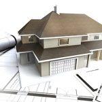 Схема, модель дома, ручка