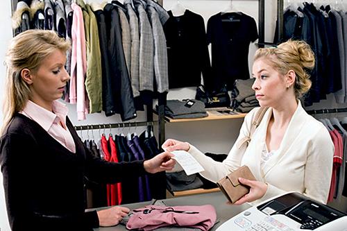 Покупатель, продавец, магазин, одежда