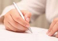 Документы, ручка, женщина