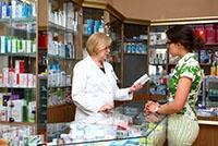 Аптека, покупатель, продавец