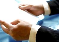 Документ в руках