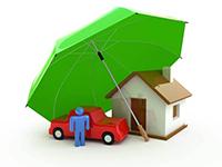 Зонт, дом, машина
