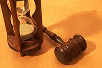 Песочные часы, судейский молоток
