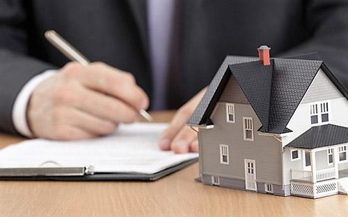 Дом, документ, мужчина, ручка