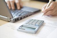 Калькулятор, документы, ноутбук