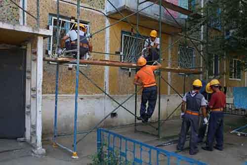 Рабочие, строители, дом