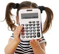 Девочка, калькулятор