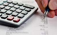 Документ, ручка, калькулятор