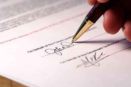 Ручка, гарантийное письмо