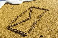 Песок, нарисованное письмо