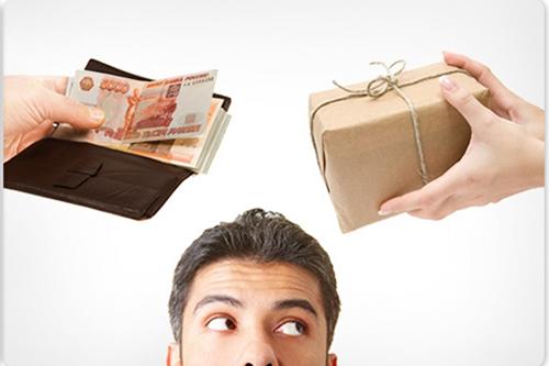 Мужчина, деньги, товар