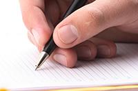 Ручка, бумага