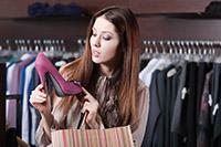 Магазин, одежда, обувь, девушка