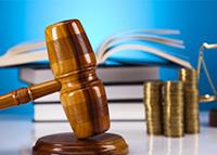 Деньги, книги, судейский молоток