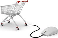 Покупательская корзина, компьютерная мышка