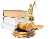 Книги, весы, судейский молоток