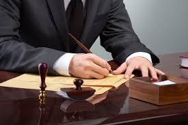 адвокат, стол, ручка, листок