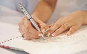руки, ручка, листок
