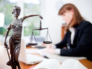 девушка-юрист, фемида